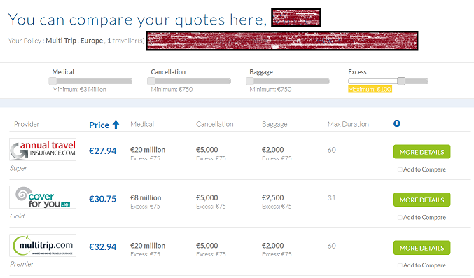 Ucompare Travel Insurance