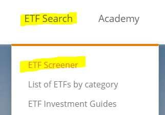ETF Screener